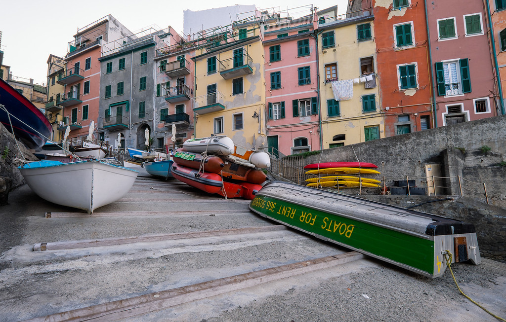 Boats for rent, Riomaggiore
