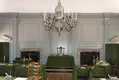 """""""The Rising Sun Chair"""" used by George Washington during the Constitutional Convention in 1787."""