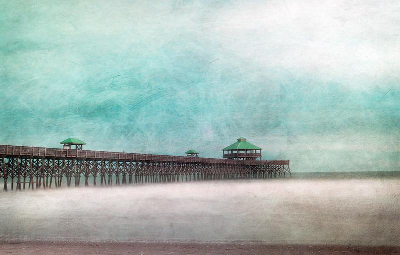 Folly Beach Pier with Texture