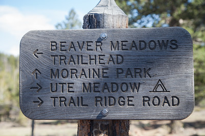Beaver Meadows Trail Sign, RMNP IMG_9286