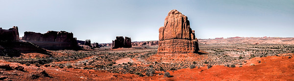 Utah; Moab; LaSal Mountain Outlook; USA; Arches National Park
