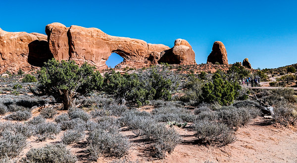 USA; Utah; Arches National Park; North Window