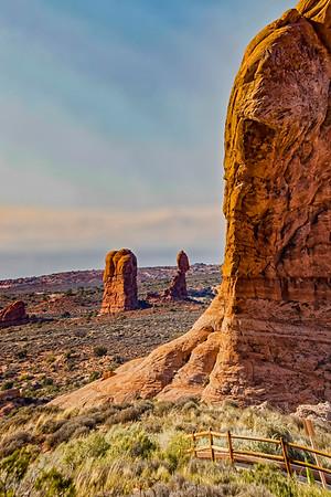 USA; Utah; Arches National Park; Balanced Rock