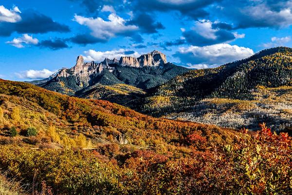 USA; Colorado; Ridgway; Country Road 10