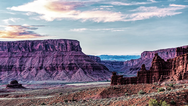 USA; Moab; Professor Valley; Utah; Fisher Towers