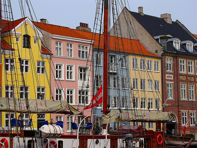 in the Nyhavn area of Copenhagen