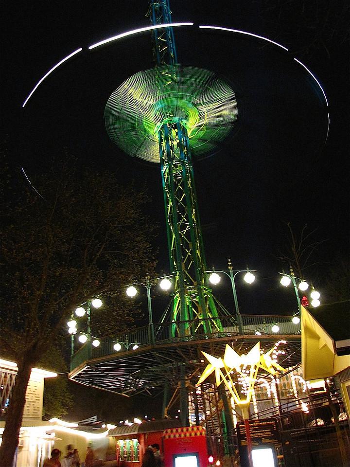 in the Tivoli at night