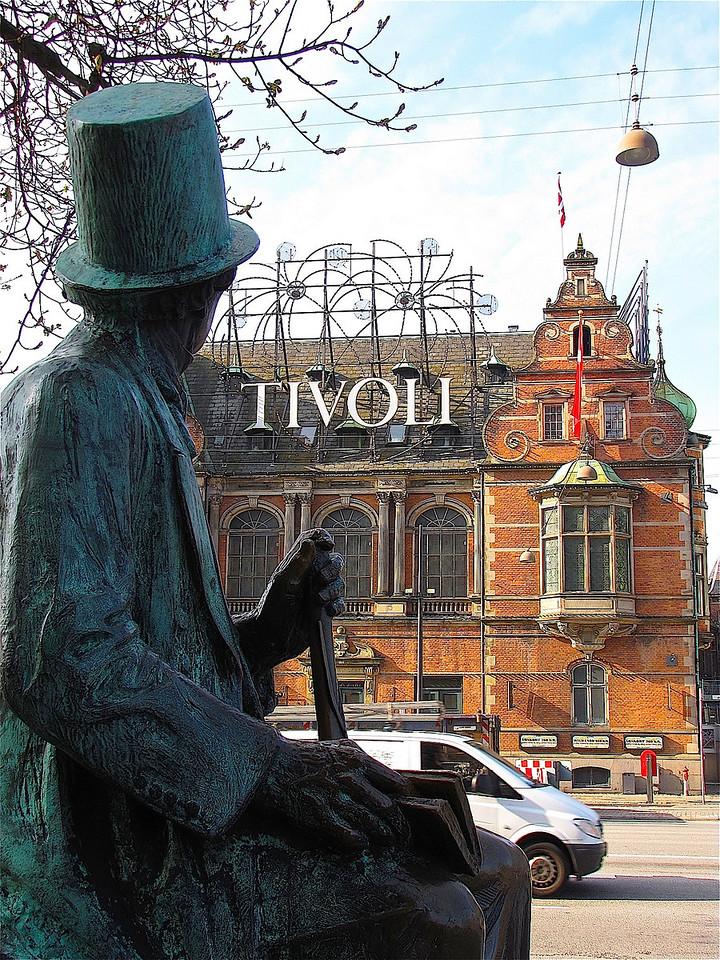 H.C.Andersen gazing on the Tivoli