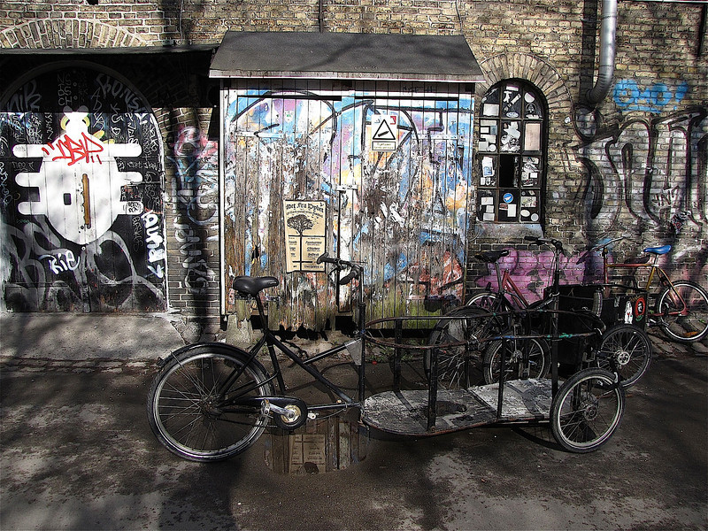 near Christiania - a free state in Copenhagen