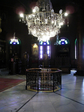 inside the Church of St. George, Cairo