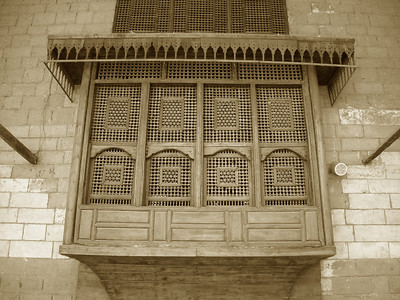 wooden lattice work window