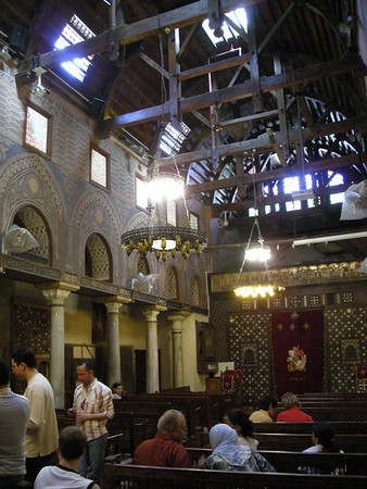 inside the Hanging Church, Coptic Cairo