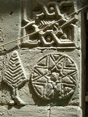 stone wall carvings, Coptic Cairo