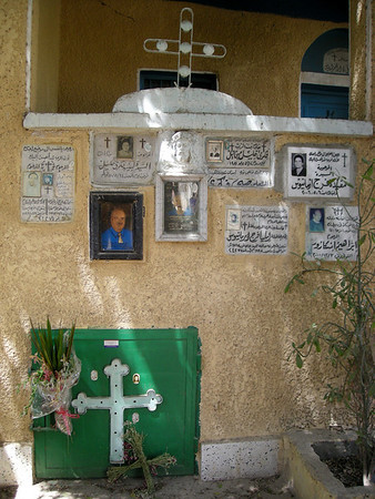 in a cemetery in Coptic Cairo