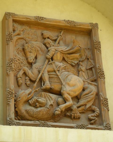 Palestinian St. George slaying a dragon