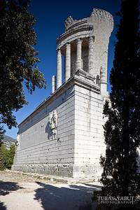 The Trophy was built c. 6 BC in honor of the emperor Augustus to celebrate his definitive victory over the 45 ancient tribes who populated the Alps.