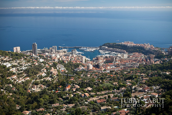 view of Monaco from La Turbie