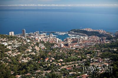 view of Monaco from La Turbie