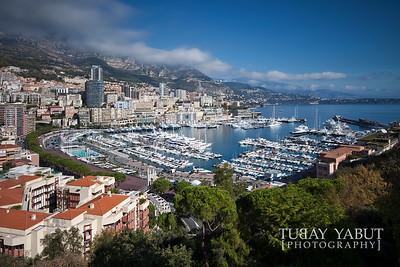 View of Port Hercule, Monaco