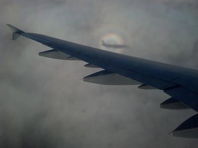 Brocken Spectre of our plane