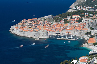A postcard of Dubrovnik.