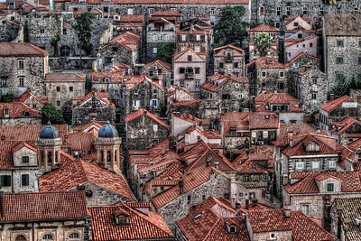 Houses inside the walls of Dubrovnik