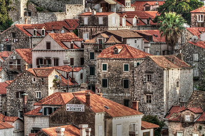 Houses within the walls of Dubrovnik.