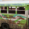 Our bus with required message to release some Cuban prisoners. Message was required in order for Presbyterian Church to have bus.