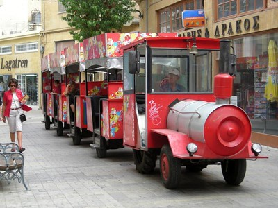 the coke train in Nicosia