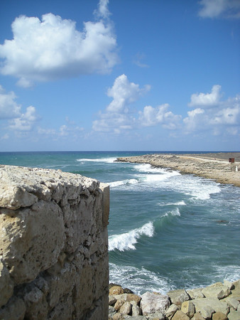 View from the fort, Pafos Harbor