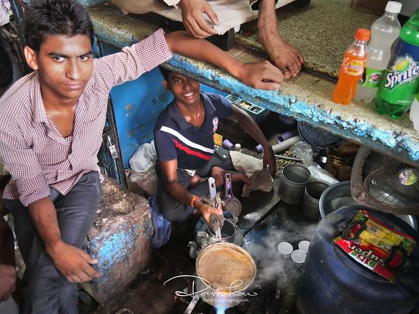 New Delhi kid whipping up a masala tea