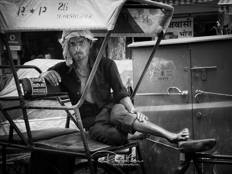 Trishaw puller