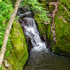 Pewits Nest Flowing Waterfall