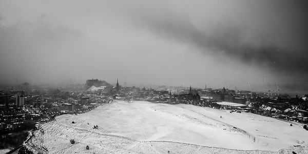 Edinburgh Snow Squall - Scotland