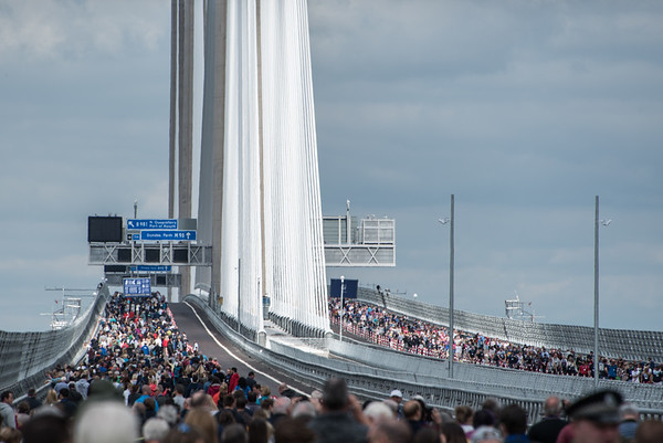 Crowds not Cars - Queensferry Crossing, Scotland