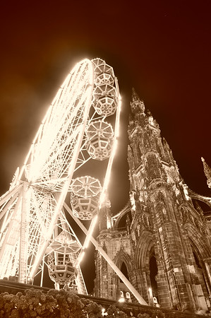 Scott Monument Wheel - Edinburgh, Scotland