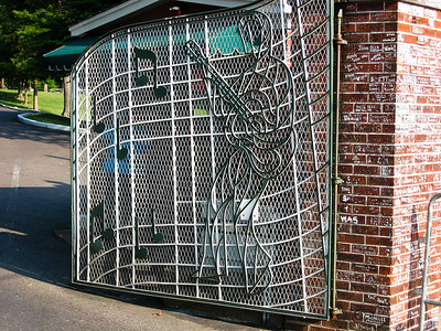 Gates to Graceland, home of Elvis Presley, Memphis TN