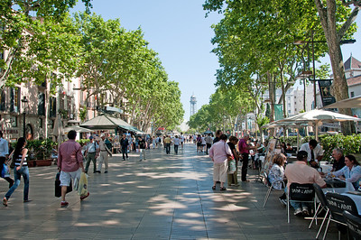 The Ramblas in Madrid. The number one pickpocket location in the world