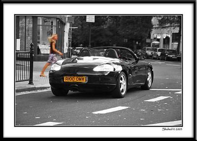 Ref #9442-1N  The Porsche & the Blondphoto © LenScape Photography