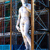 This is a replica of David. The original is inside the Galleria dell'Accademia.