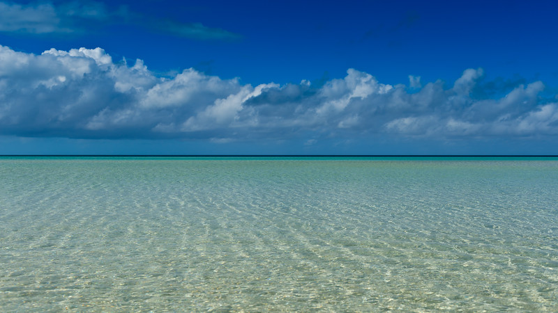 Crystal clear waters at Cocodimama resort, Governors Harbour, Bahamas