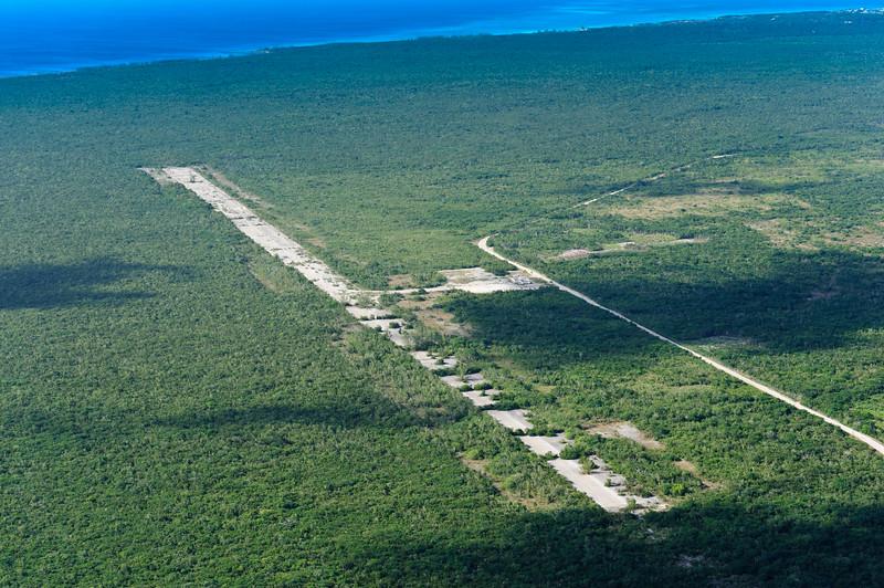 Closed Cape Eleuthera airport, Bahamas