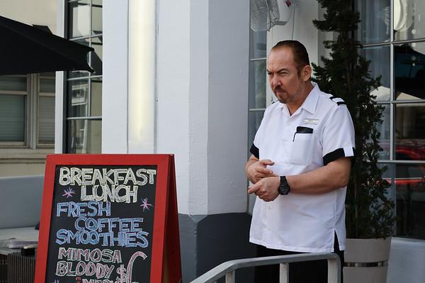 Waiter at Miami South beach