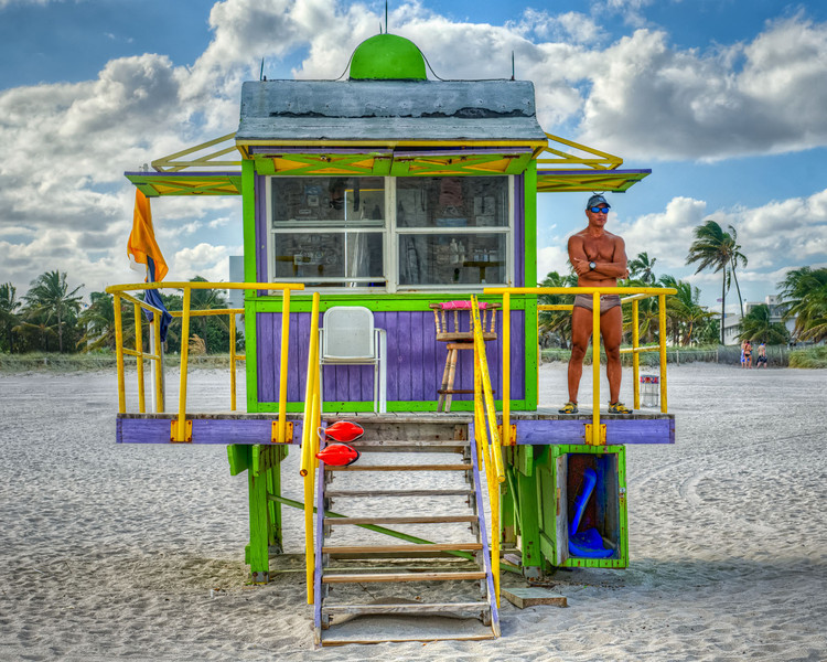 Lifeguard at Miami South beach