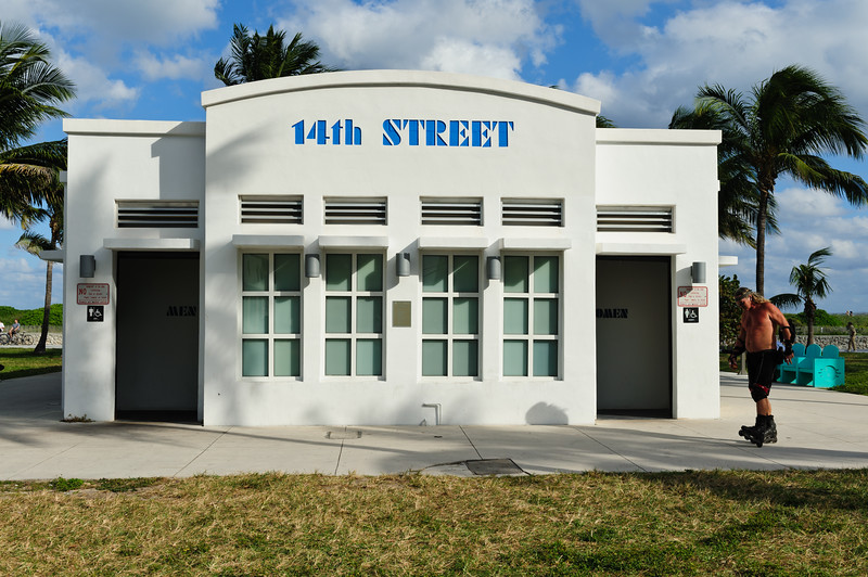 Art Deco toilets at Miami South beach