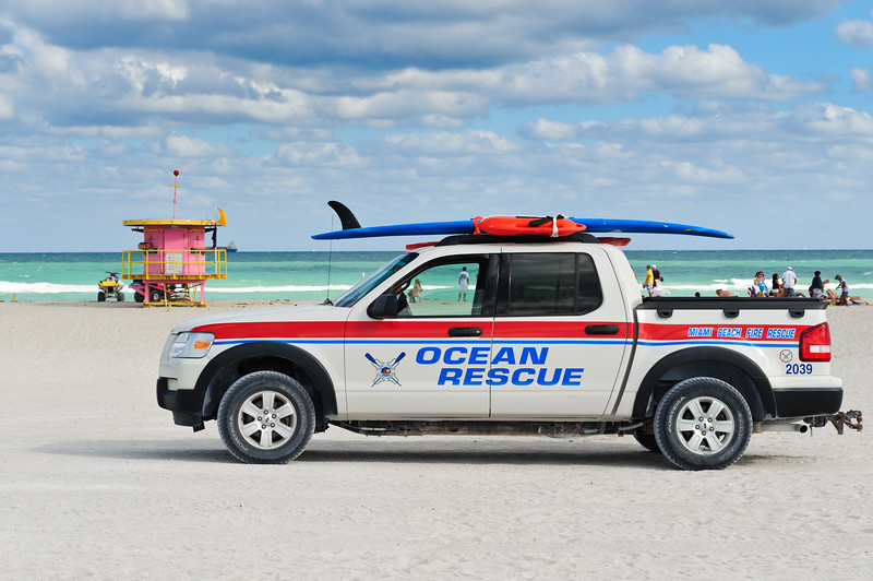 Ocean Rescue car a Miami South beach