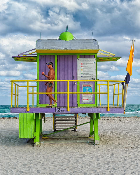 Lifeguard at Miami South beach
