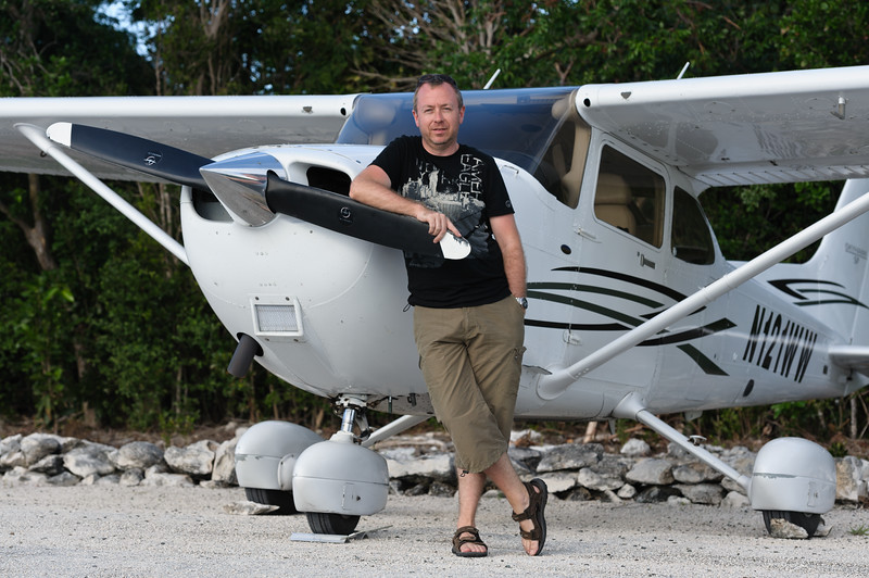 Yours truly in front of the Cessna C172 SP used for the trip