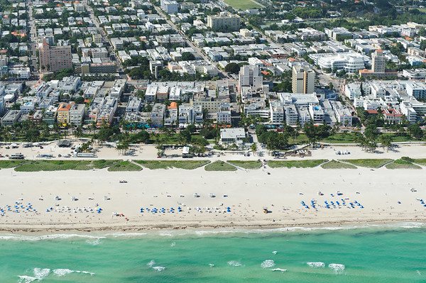 Miami South beach aerial