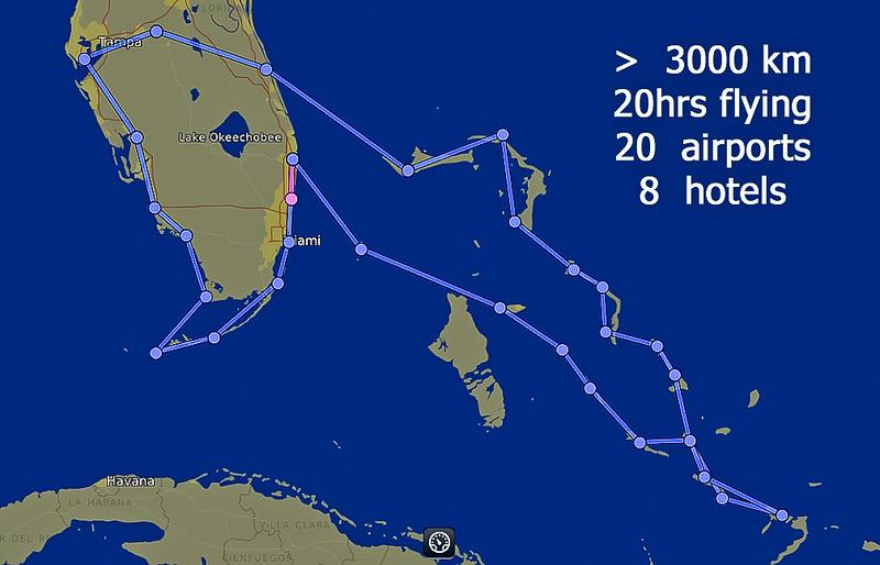 Route flown by Cessna 172SP G1000, Nov 2011